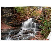 Onondaga Waterfall Transitions Into Fall Poster