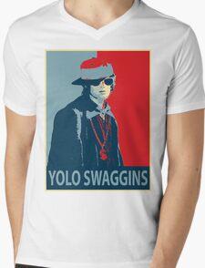Yolo Swaggins Mens V-Neck T-Shirt