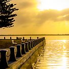 Jetty at Sunrise - Port Albert by Sherene Clow