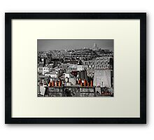 Paris rooftop Framed Print