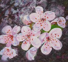 Plum Blossoms by Nancy Ging (Whatcom Locavore)