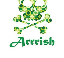 Arrish Irish Pirate Skull And Crossbones by kwg2200