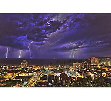 Coastal Lightning Storm at Manly NSW Australia Photographic Print