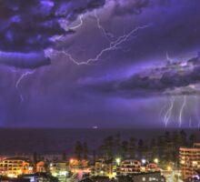 Coastal Lightning Storm at Manly NSW Australia Sticker
