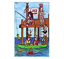 KMAY Hoodkids Fishing Photographic Print