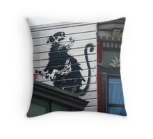 San Francisco - Banksy rat on a roof Throw Pillow