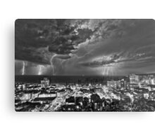 Lightning storm on the coast off Manly NSW Australia Metal Print
