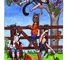 KMAY Hoodkids Climbing the Jacaranda by Katherine May