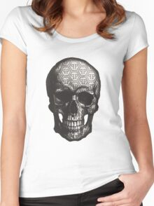 Famous Skull Women's Fitted Scoop T-Shirt