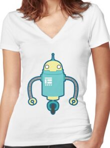 Droid Women's Fitted V-Neck T-Shirt