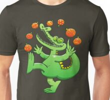 Christmas Alligator Juggling Xmas Balls Unisex T-Shirt