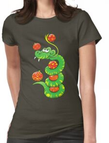 Green Snake Celebrating Christmas Womens Fitted T-Shirt