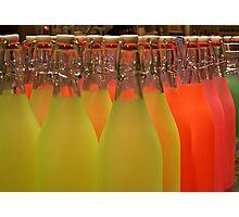 Coloured Bottles Photographic Print