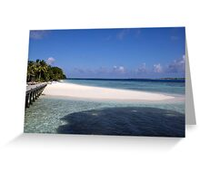 a beach in the sun Greeting Card