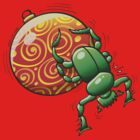 Beetle Pushing a Christmas Ball by Zoo-co