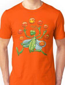 Green Grasshopper Juggling Christmas Balls Unisex T-Shirt