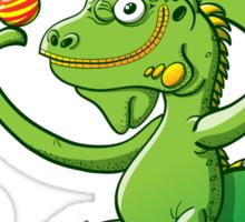 Christmas Iguana Sticker