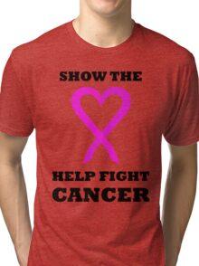 Show the LOVE Cancer 01BL Tri-blend T-Shirt