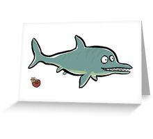 ichthyosaurus Greeting Card