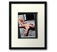 Survivor - Peeping Framed Print