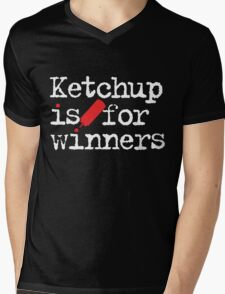 Ketchup Is For Winners Mens V-Neck T-Shirt
