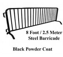 8 ft Barricade with Black Powder Coat by epiccrowdcontro