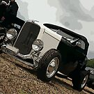 black and white hotrod by ARTistCyberello