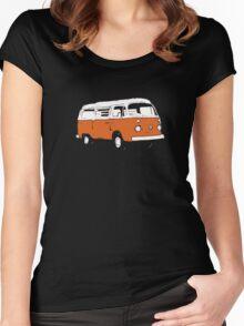 New Bay Campervan Orange Women's Fitted Scoop T-Shirt