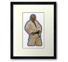 Vladimir Putin Judo Rainbow Framed Print