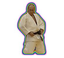 Vladimir Putin Judo Rainbow Photographic Print