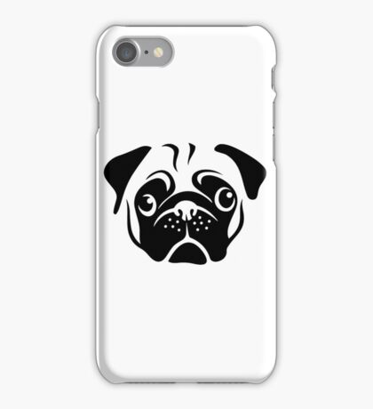 Cute Pug Face by AiReal Apparel iPhone Case/Skin