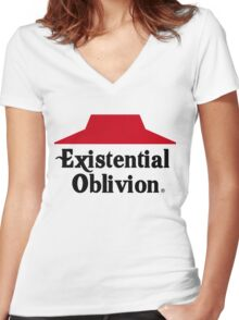 Existential Oblivion Women's Fitted V-Neck T-Shirt