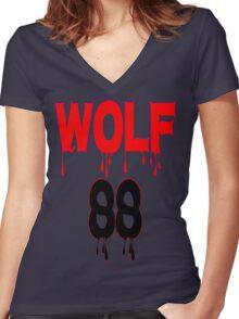 ♥♫WOLF 88-Splendiferous K-Pop EXO Clothes & Stickers♪♥ Women's Fitted V-Neck T-Shirt