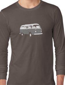 New Bay Campervan Grey Long Sleeve T-Shirt