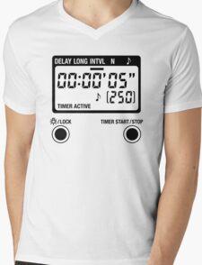 Timer Active Mens V-Neck T-Shirt