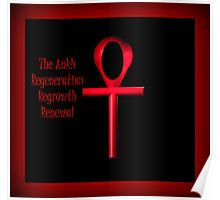 Red Ankh Poster