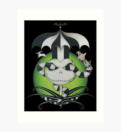 BeetleJack - black Art Print