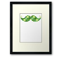 Green Shamrocks Mustache Framed Print