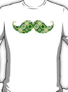 Green Shamrocks Mustache T-Shirt