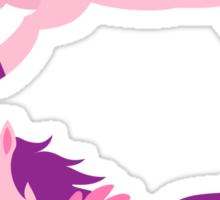 Cute pink pegasus with purple mane Sticker