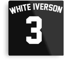 White Iverson - White Metal Print