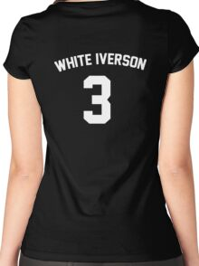 White Iverson - White Women's Fitted Scoop T-Shirt