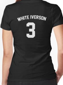White Iverson - White Women's Fitted V-Neck T-Shirt