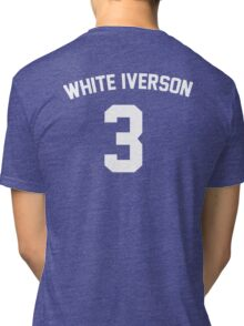 White Iverson - White Tri-blend T-Shirt