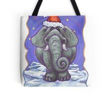 Elephant Christmas Card Tote Bag
