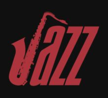 Jazz  Sax Red decoration Clothing & Stickers by goodmusic