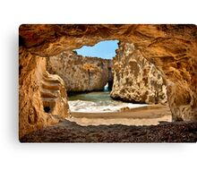 CaveBeach of Papafrangas Canvas Print