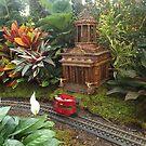 Model Buildings, Model Trains, New York Botanical Garden Holiday Train Show, Bronx, New York, 2015 by lenspiro