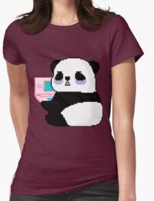 Panda DS Pixel Womens Fitted T-Shirt