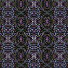 Neon grass pattern by Avril Harris
